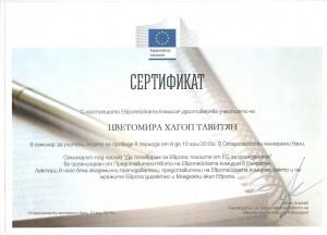 сертификат Цветомира Евр.съюз